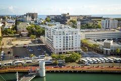 Aerial View on Old San Juan, Puerto Rico. Aerial View on Old San Juan stock photography