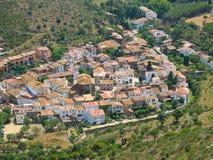 Aerial view old Spanish village La Selva de Mar Royalty Free Stock Images