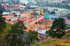 Aerial view of old Tbilisi capital Georgia Stock Photos