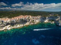 Aerial view of the Old Town of Bonifacio Stock Photo