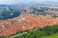 Aerial view of the Old Town, Brasov Stock Images
