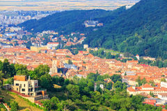 Aerial view of the Old Town, Brasov Stock Photo