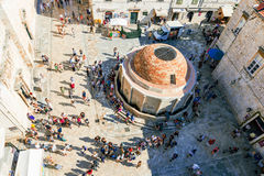 Aerial view of old town Dubrovnik stock photography