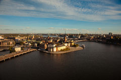 Aerial view of the old town Gamla Stan of Stockholm, Sweden Royalty Free Stock Photography