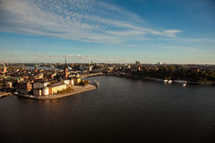 Aerial view of the old town Gamla Stan of Stockholm, Sweden Royalty Free Stock Photo