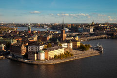 Aerial view of the old town Gamla Stan of Stockholm, Sweden. Stock Photos