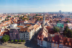 Aerial view on the Old Town Hall in the center of Erfurt: Thurin Royalty Free Stock Photos