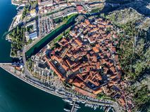 Aerial view of the old town of Kotor, Montenegro.  Stock Image