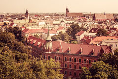 Aerial view of Old Town in Krakow, Poland Stock Image