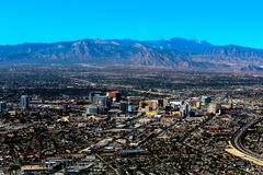 Aerial view of the Old town Las Vegas. Aerial view of the old town in Las Vegas Royalty Free Stock Images
