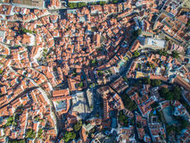 Aerial View old town of Lisbon city. Aerial View Lisbon city at september 2016 stock photography