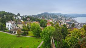Aerial view of old town Lucerne in Switzerland Stock Images