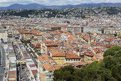 Aerial view of the Old Town of Nice Stock Photo