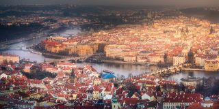 Aerial view of old town of Prague, Czech Republic Royalty Free Stock Photography