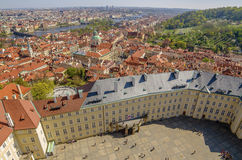 Aerial view of Old Town in Prague, Czech Republic Royalty Free Stock Photography