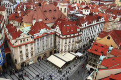 Aerial view of old Town Square, Czech Republic Stock Photography