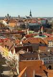 Aerial view on old town of Tallinn Stock Photography
