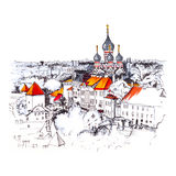 Aerial view old town, Tallinn, Estonia Royalty Free Stock Photography