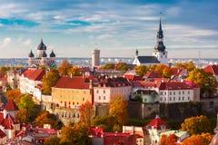 Aerial view old town, Tallinn, Estonia Royalty Free Stock Images