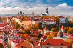 Aerial view old town, Tallinn, Estonia Stock Image