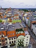 Aerial view of Old Town in Torun, Poland royalty free stock images