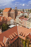 Aerial view of old town in Torun, Poland Royalty Free Stock Image