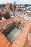 Aerial view of old town in Torun, Poland Royalty Free Stock Photos