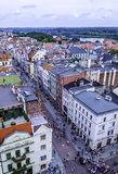 Aerial view of Old Town in Torun, Poland royalty free stock photo