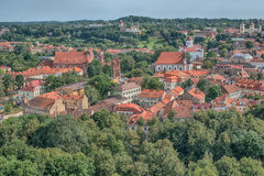 Aerial view of Old Town in Vilnius, capital city of Lithuania Royalty Free Stock Image
