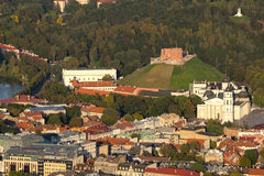 Aerial view of Old Town of Vilnius, Lithuania Stock Image
