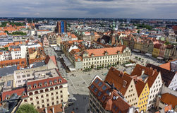 Aerial view of old town in Wroclaw, Poland Stock Photo