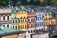 Aerial view of Old Town of Zamosc, Poland.  Stock Photos