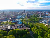 Aerial view of the oldtown in Gdansk Royalty Free Stock Images
