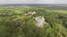 Aerial view of Olesko Castle in Lviv region, Ukraine. stock video footage