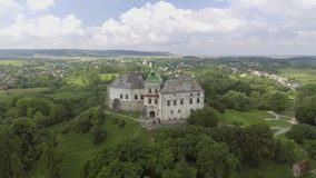 Aerial view of Olesko Castle in Lviv region, Ukraine. 4k stock video