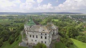 Aerial view of Olesko Castle in Lviv region, Ukraine. 4k stock footage