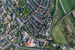 Aerial view of Olesnica city stock photos
