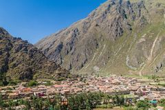 Aerial view of Ollantaytambo royalty free stock images