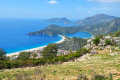 Aerial view of Oludeniz, Turkey Stock Images
