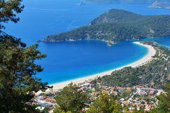 Aerial view of Oludeniz, Turkey Stock Photography