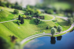 Aerial view of Olympiapark and Munich from Olympiaturm Royalty Free Stock Image