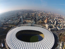 Aerial view the Olympic Arena in Kiev Stock Images