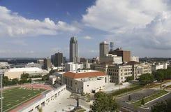 Aerial view of Omaha Nebraska skyline stock photos