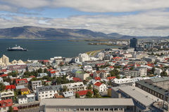 Aerial View On City Of Reykjavik - Iceland. Royalty Free Stock Photography