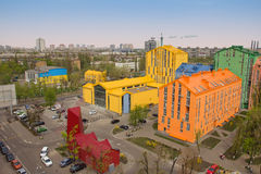 Aerial View On Colorful Residential Buildings Stock Image