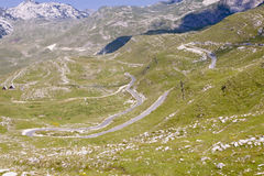 Aerial View On Hairpin Route - Montenegro Royalty Free Stock Image