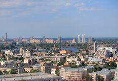 Aerial view of one district in Kiev Stock Image