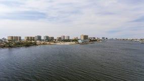 Aerial view of florabama beaches stock photo
