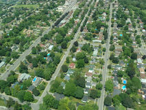 Aerial view of Ontario. Aerial view of residential area in summer time, Ontario, Canada Royalty Free Stock Images