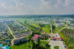 Aerial view onto poultry farm. Borovskiy. Russia Royalty Free Stock Image